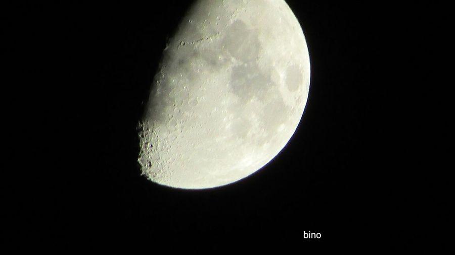 Last Night's Moon Surface Up Close And Personal Half Moon Cold Night Cadillac Sky Pure Michigan