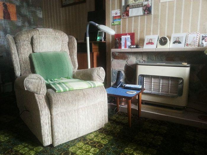 Empty Chair Presence Grandad's chair.