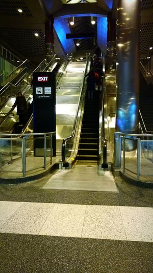 Taking Photos Bus Station Stairs Escalator Metal Toronto Lines Lines And Lights Reflections Shine Bright Light Colorful Light And Shadow Light And Lines