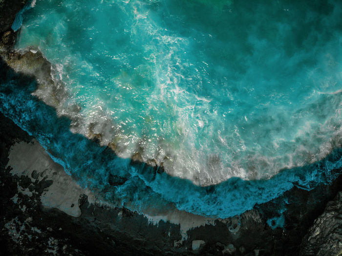 Drone  Aquatic Sport Beauty In Nature Day Dronephotography Geology High Angle View Motion Nature No People Outdoors Power Power In Nature Rock Rock - Object Scenics - Nature Sea Solid Sport Turquoise Colored Water Wave