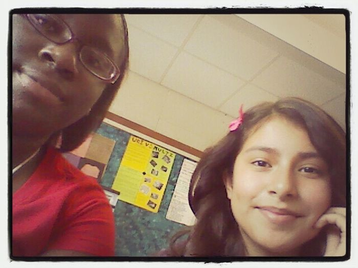 me and jasmine on science class