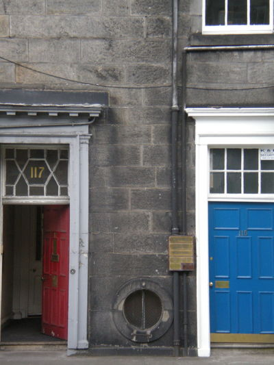 Architecture Blue Door Building Exterior Door Entrance Exterior Façade Geometry Old Old Buildings Open Closed Red Door Scotland Window