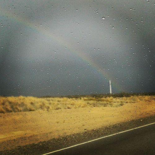 El arcoiris sale de casa Viajandoamihogar