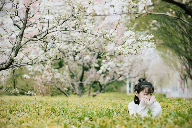 Tree One Person Flower Child People Grass Children Only Nature Outdoors Adult Day Young Adult EyeEmNewHere