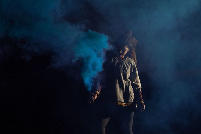Smoke - Physical Structure Night Real People Low Angle View Outdoors One Person Sky People Smoke Bomb