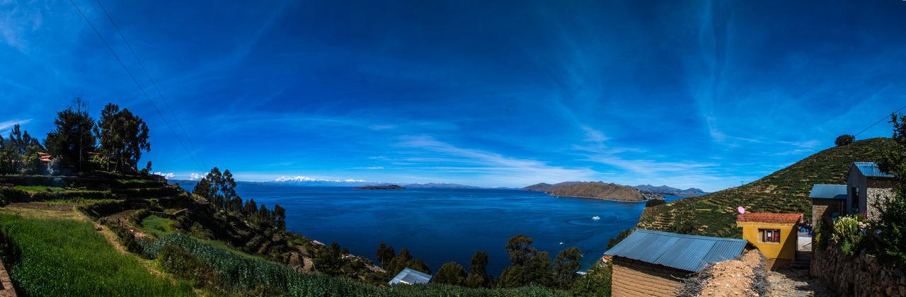 Amazing View Beautiful Nature Blue Sky Isla Del Sol Panorama Peru South America Summertime Titicaca Titicaca Lake Travel Destinations Traveling