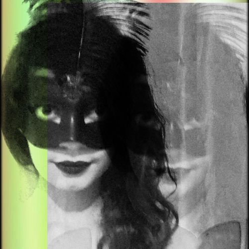 Mask PromNight Girl Blackandwhite