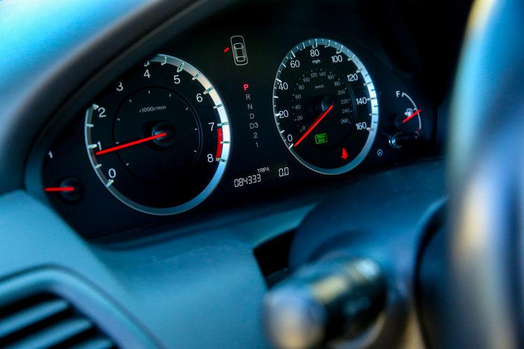 Close-up of car dashboard