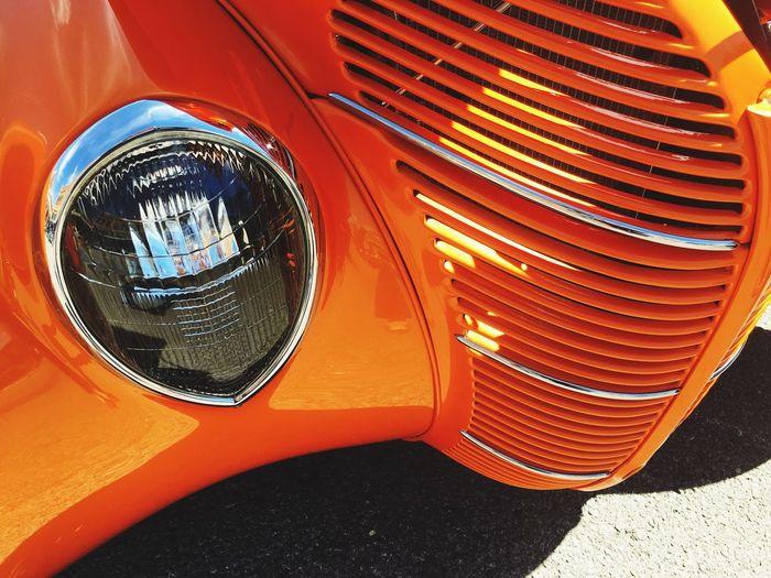 Car Car Show Close-up Orange