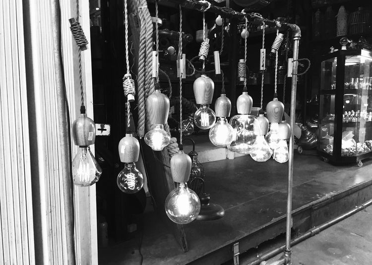 Close-Up Of Light Bulbs For Sale