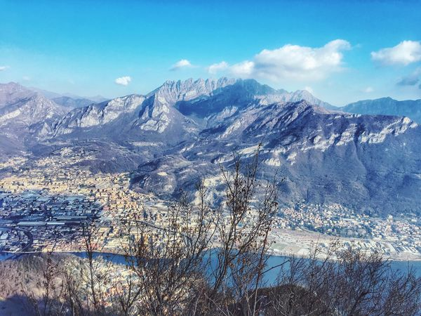The Resegone. Nature Outdoors No People Lake Mountain Resegone City Lecco EyeEm EyeEm Nature Lover EyeEm Best Shots From My Point Of View at 923 mt. Scenics Landscape in Brianza