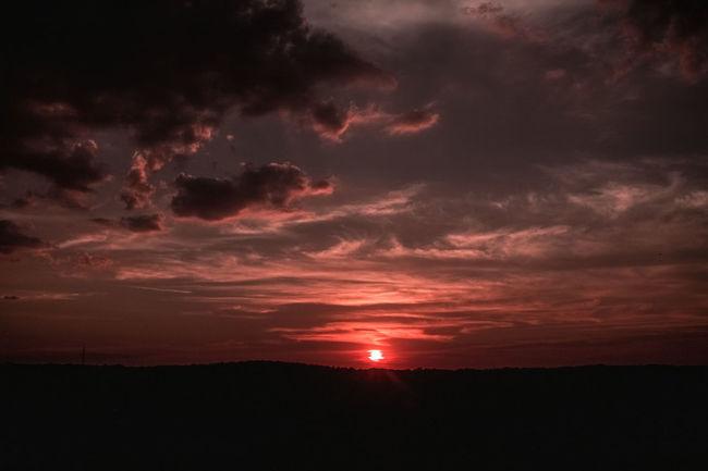 Red sunset. Taking Photos Sky And Clouds Clouds Skyporn Sun Sunset Sky Horizon Mountain Fine Art Taking Photos Exploring Georgia Atlanta Alien Martian  Mars Creepy Eerie Beautiful Fine Art Photography