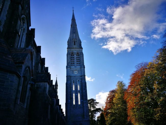 Tower Sky Travel Destinations Clock Clock Tower Architecture Wanderlust Traveladdicted Explore The World ExploreEverything Maynooth Collage Church Maynooth Ireland🍀 Huawei P9. Irelandinspires Historical Buildings History Through The Lens