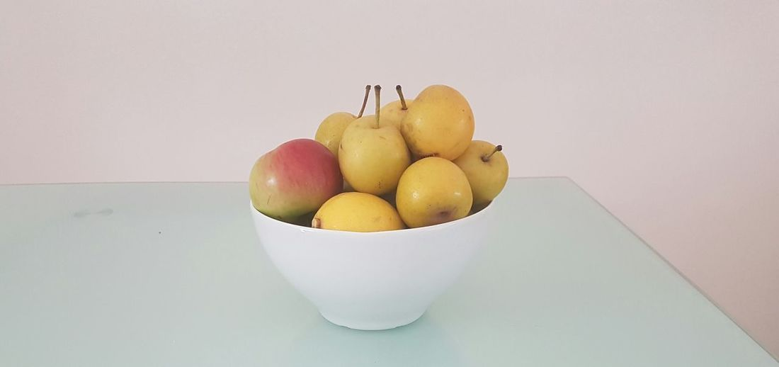 Healthy Eating Studio Shot Fruit Freshness No People Food White Background Close-up Nature Day nashi pear Nashi Pears Fruit Fruit Bowl And Kitchen Table.