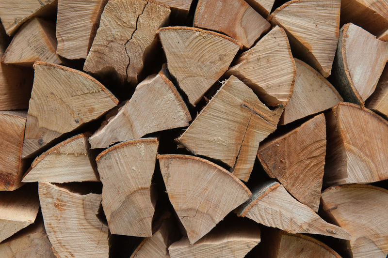 Full frame shot of firewood pile