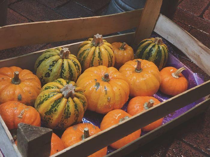 Pumpkins || Streetphotography City Stall Pumpkins Halloween London Nightphotography Freshness Food And Drink Abundance Organic