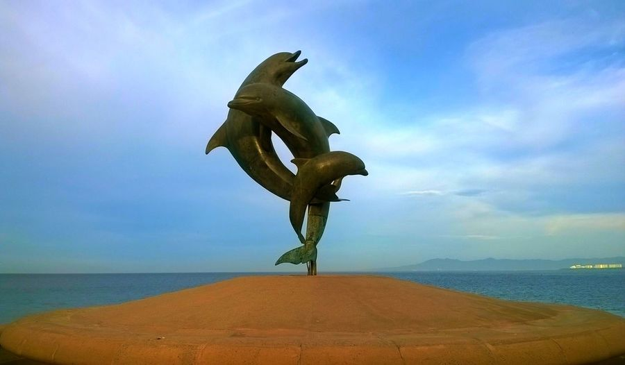 Puerto Vallarta Mexico Pacific Ocean Dolfins Paradise Blue Sky