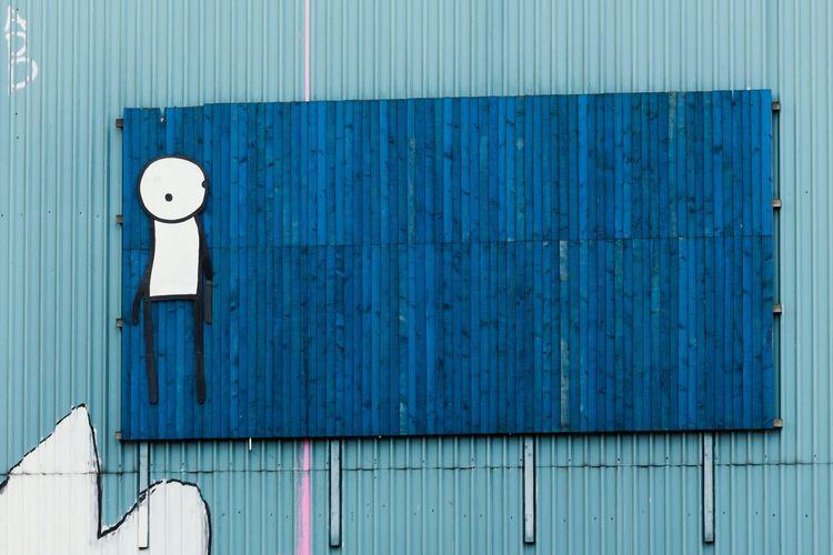 Stik Check This Out Streetphotography Street Art London Graffiti Art STIK Graffiti Wall Art