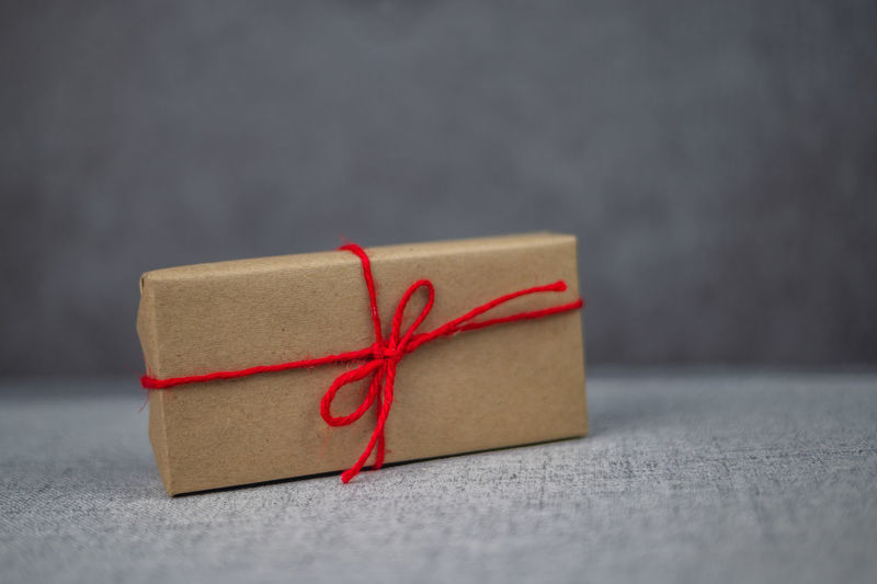 Close-up of red paper in box