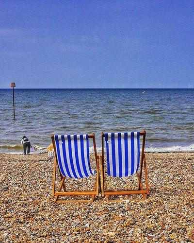 Whitstable Beach Beachphotography Beach Photography Beach Life Summer Summertime Deckchairs Whitstable Kent Panasonicgx7 Beautiful Sky The Essence Of Summer- 2016 EyeEm Awards