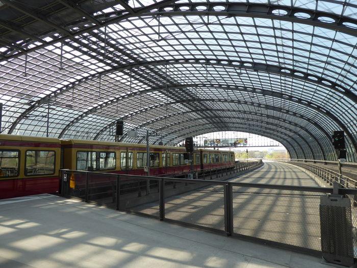 Arch Architecture Built Structure Local Transport Berlin No People Public Transportation Railroad Station Shadows Train Train Station Travel