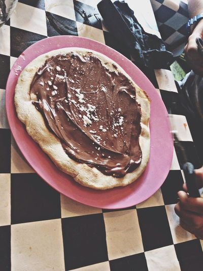Pizza+Nutella Eating