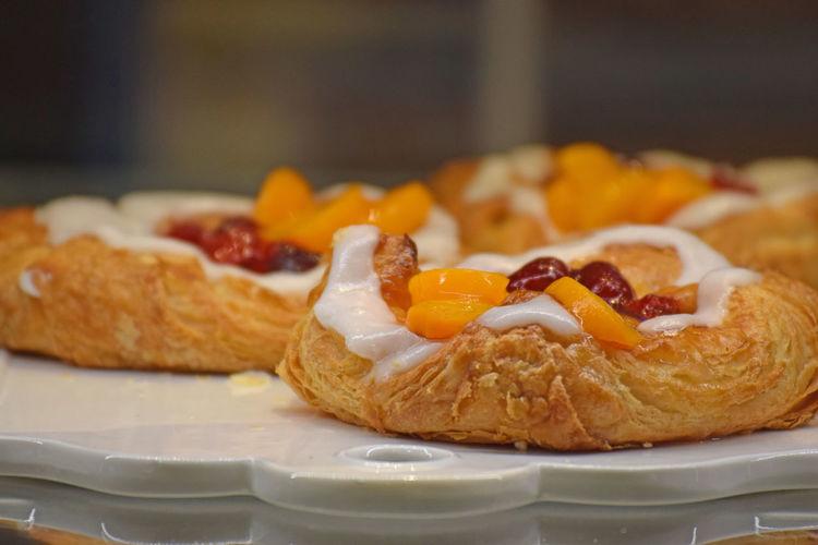 Baked Bread Food And Drink Fruit Snack Sweet Food Table Wienerbröd