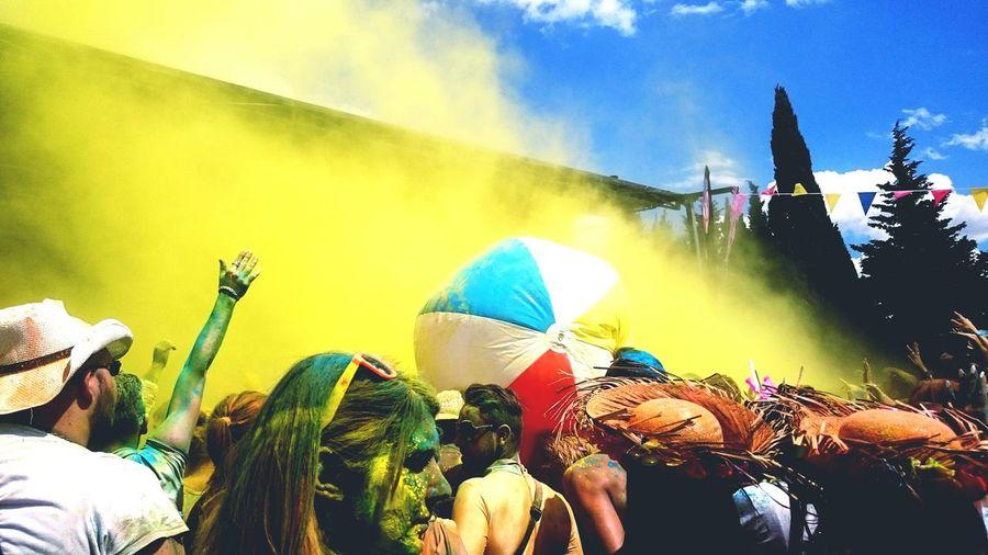 Holy Party Fete Couleur Poudre Jaune Amusement  Ballon