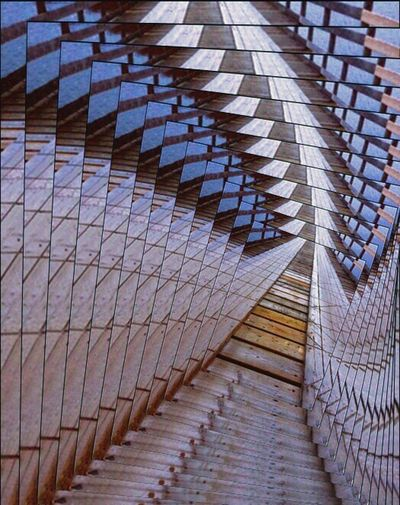 Pattern Full Frame Steps And Staircases No People Backgrounds Architecture Modern Day Outdoors Close-up Dock Recursion Photography In Motion Wood - Material