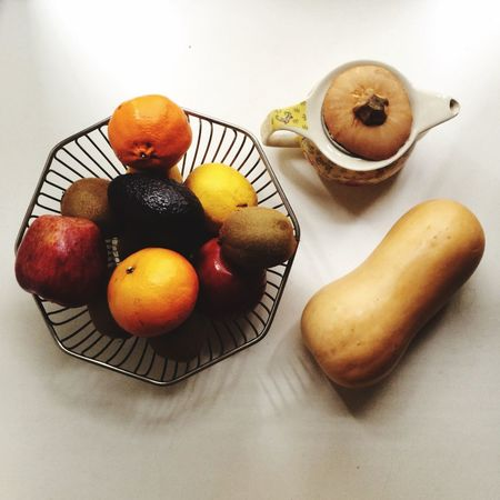 EyeEm Selects Food And Drink Food Fruit Healthy Eating Freshness Wellbeing Table Still Life No People High Angle View Indoors  Orange - Fruit Orange White Background Banana Apple - Fruit Directly Above Citrus Fruit Drink Bowl