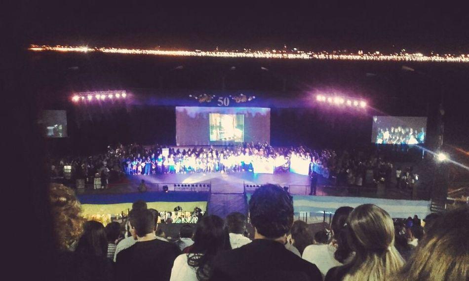 Evento de Aniversario del Colegio Sanbasilio en el Anfiteatro de Posadas Nightphotography