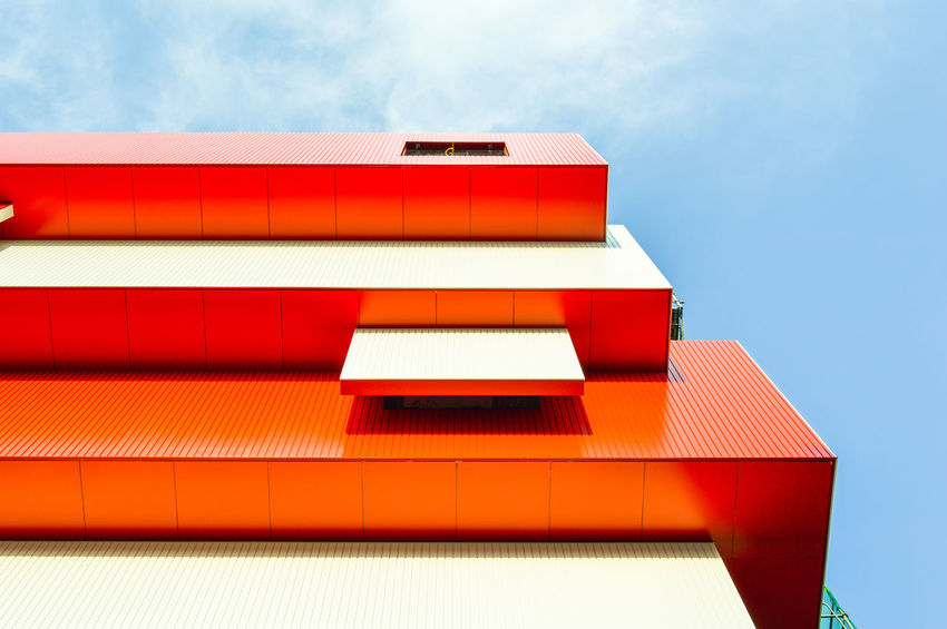 Architectural Feature Architectural Detail Architecturelovers Building Story Geometry Urban Urban Perspectives Urbanphotography City Cityexplorer Red Roof Sky Architecture Building Exterior Built Structure Roof Tile Office Building Urban Scene City Location Architecture And Art Architectural Design The Architect - 2018 EyeEm Awards