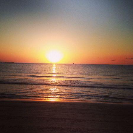 Sunset Beach Solitude Summer