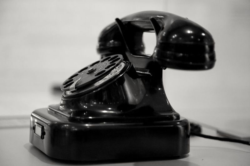 Close up of telephone