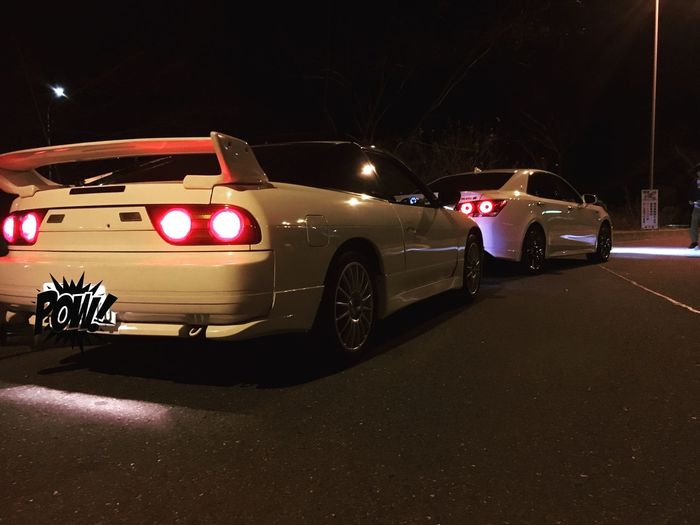 180sx from Japan Light Nihgt View Touge Drive Night Sr20det Car 180sx Outdoors Street First Eyeem Photo