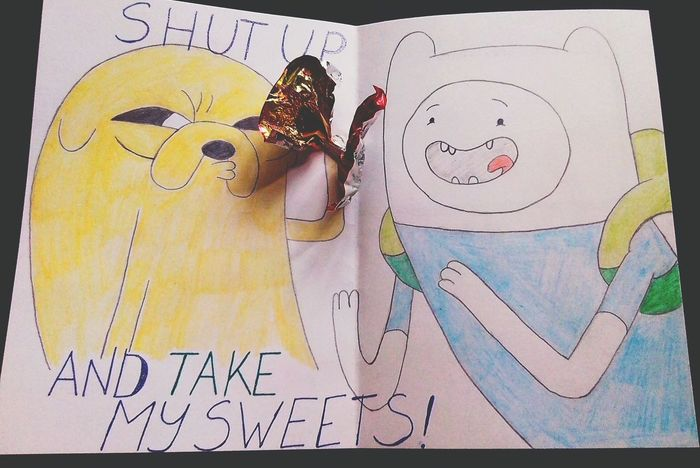 The best thing which I've ever made Art Adventuretime HappyBirthday Finn And Jake