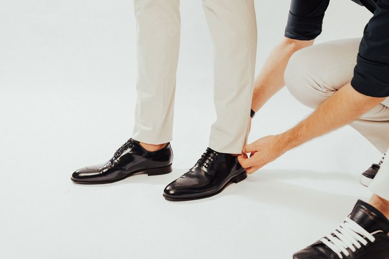 Two People Low Section Men Togetherness Shoe Human Leg Standing Indoors  Real People White Background Close-up Day People Out Of The Box Out Of The Box