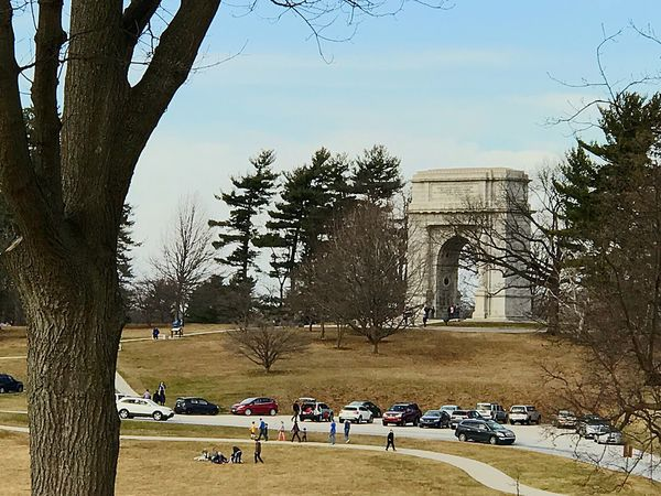 Valley forge park, memorial arch