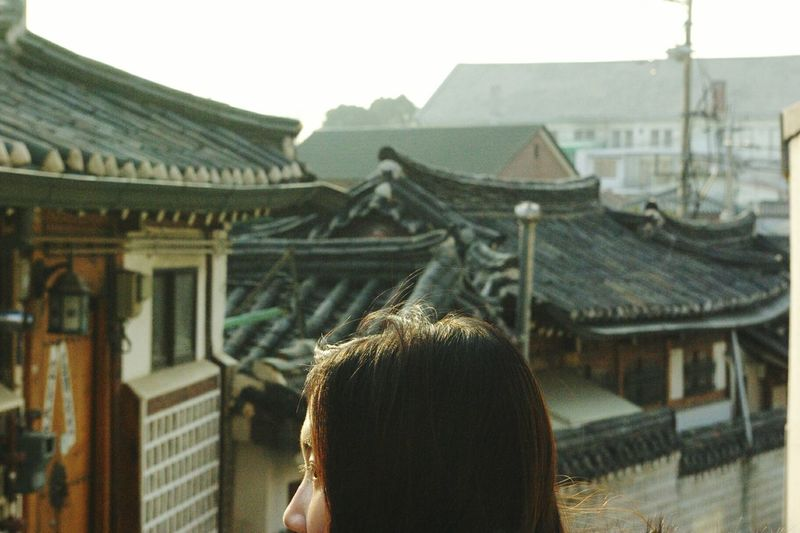 Eye4photography  EyeEm Best Shots Tourist Holiday Friend Happiness Went to Bukchon village, Seoul, Korea.