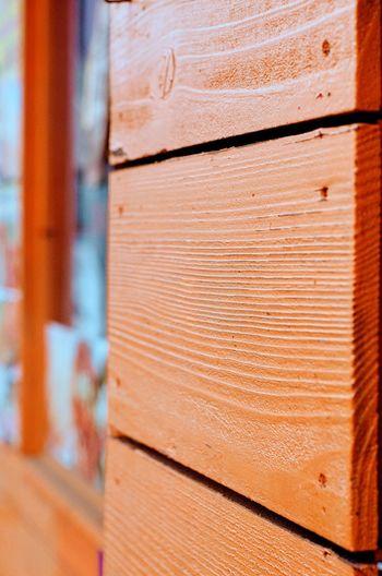 Orange wooden