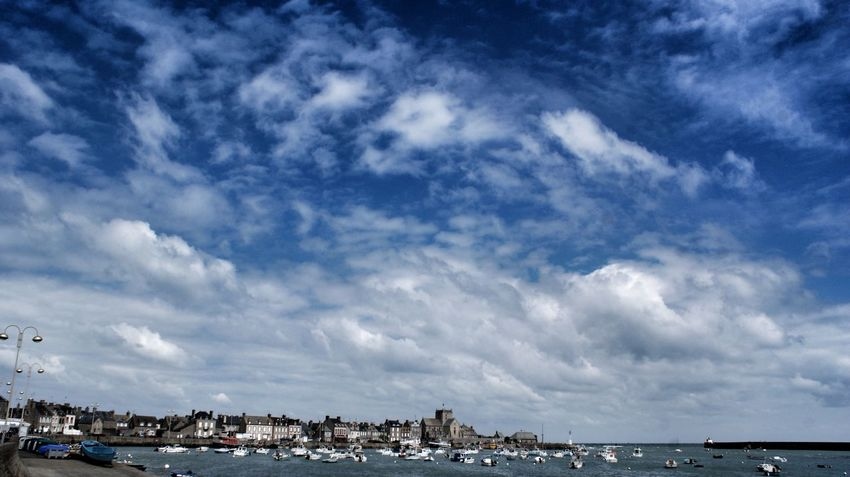 Bretagne France Skyline Sky And Clouds Sun_collection, Sky_collection, Cloudporn, Skyporn Seaside Sea And Sky Sea View Seascape Village Harbour Harbour View Enjoying Life Sony NEX Reflections Walking Around The City  Bluesky Colours Summer ☀ Sunny Day Peace And Quiet Eyeemphotography Holidays Taking Pictures Watercolor