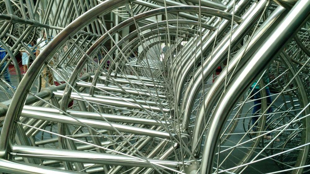 Metal Close-up Bikes Aiweiweiexhibition