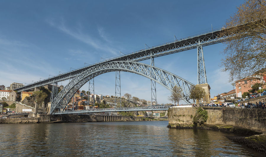Ponte Dom Luis I Porto Portugal Arch Arch Bridge Architecture Bridge Bridge - Man Made Structure Building Exterior Built Structure City Connection Day Duro Engineering Nature Outdoors River Sky Transportation Travel Destinations Water Waterfront