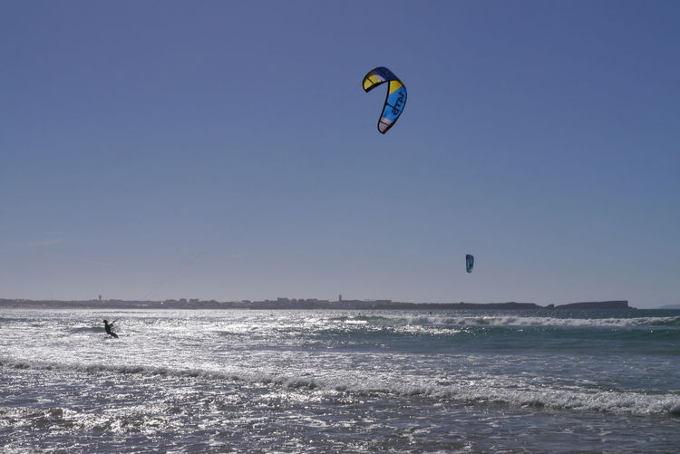 Kitesurfing on