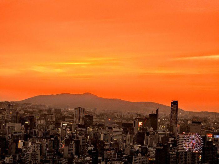 "My town todays sunset 🙆 久しぶりに我が町小倉の綺麗な夕陽で~す🙆 久し振りに燃えました~🙌 一寸出遅れたけど😂 Today's sunset of my town ""Japan fukuoka kitakyusyu kokura ""😊 Cityscape sunset orange color Dramatic sky Relaxing mytown Japan fukuoka Kitakyushu Kokura EyeEmBestPics flower collection EyeEm Best Shots EyeEm Nature Lover EyeEm gallery Emyem best F Kitakyusyu Cityscape Sunset Orange Color Dramatic Sky Relaxing Mytown Japan Fukuoka Kitakyushu Kokura EyeEmBestPics Flower Collection EyeEm Best Shots EyeEm Nature Lover EyeEm Gallery Emyem Best Fotoshoot"