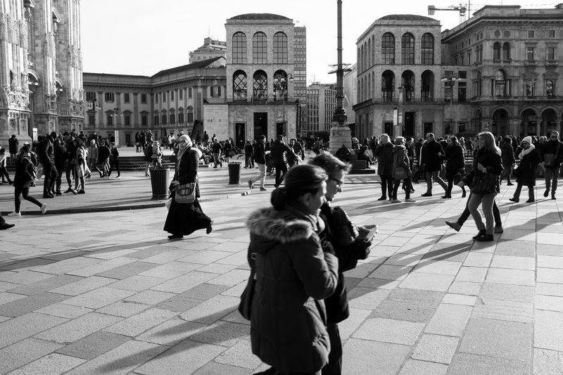 People in city