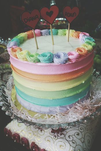 throwback wedding Rainbow Cake Rainbow Colors Foodporn