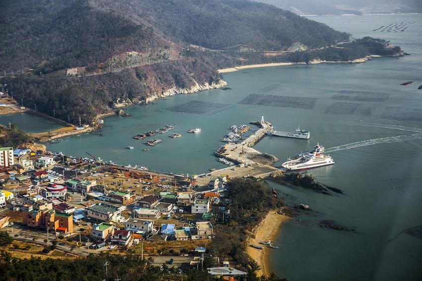 Haenam Korea Port Land End Village Sea Winter