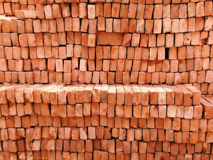Bricks Construction Raw Material Buildings Pattern