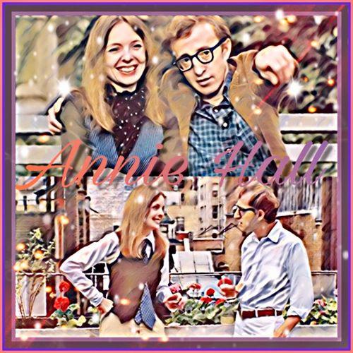 Watched this one after Breakfast at Tiffany's 💚💙💜 Anniehall Moviebinge Vintage Photo Classics Celebrities Woody Allen Diane Keaton Moviebinge Picsart